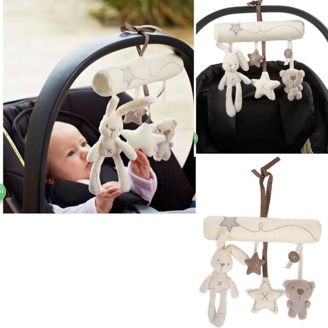 Newborn Pram Handbell Bed Stroller Soft Hanging Toy Animal Rattles Infant Toys