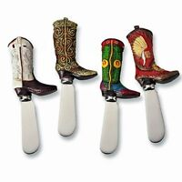 Supreme Housewares - Cowboy Boot Knife Cheese Spreaders - Set Of 4, New, Free Sh on sale