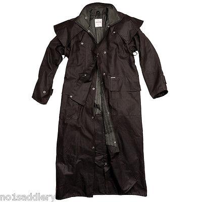 Drizabone Driza-Bone Long Riding Coat Waterproof Oilskin Brown *NEW*