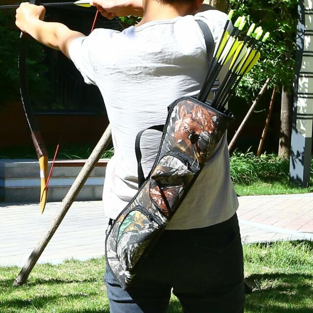 Target Shooting Hunting Archery Quiver Back Hip Waist Bag Arrow Bow Holder Pouch