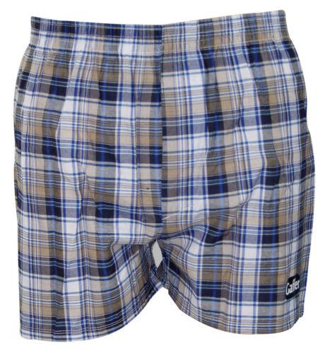 Hommes 6 Pack Tissé Carreaux Plain malles en polycoton Lingerie Boxers Short