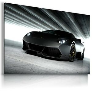 LAMBORGHINI-MURCIELAGO-BLACK-Car-Large-Wall-Art-Canvas-Picture-AU522-MATAGA