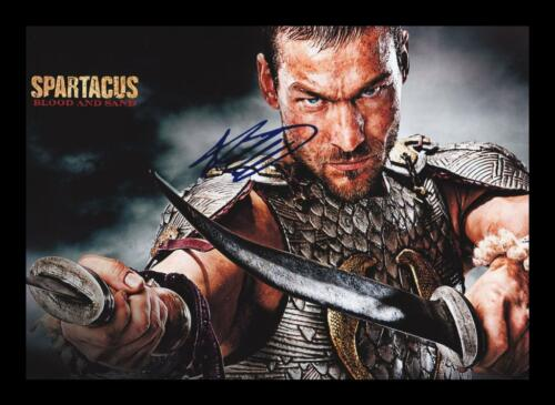 SPARTACUS AUTOGRAPHED SIGNED /& FRAMED PP POSTER PHOTO ANDY WHITFIELD