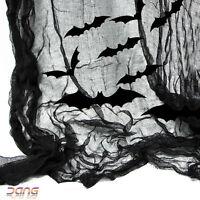 Halloween 4.8m Gothic Black Gauze Draping Sparkle Bats Cutouts Decoration Kit