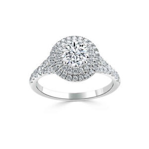 1-70-Ct-VVS1-Round-Cut-Diamond-Bridal-Engagement-Ring-14k-Solid-White-Gold-Rings