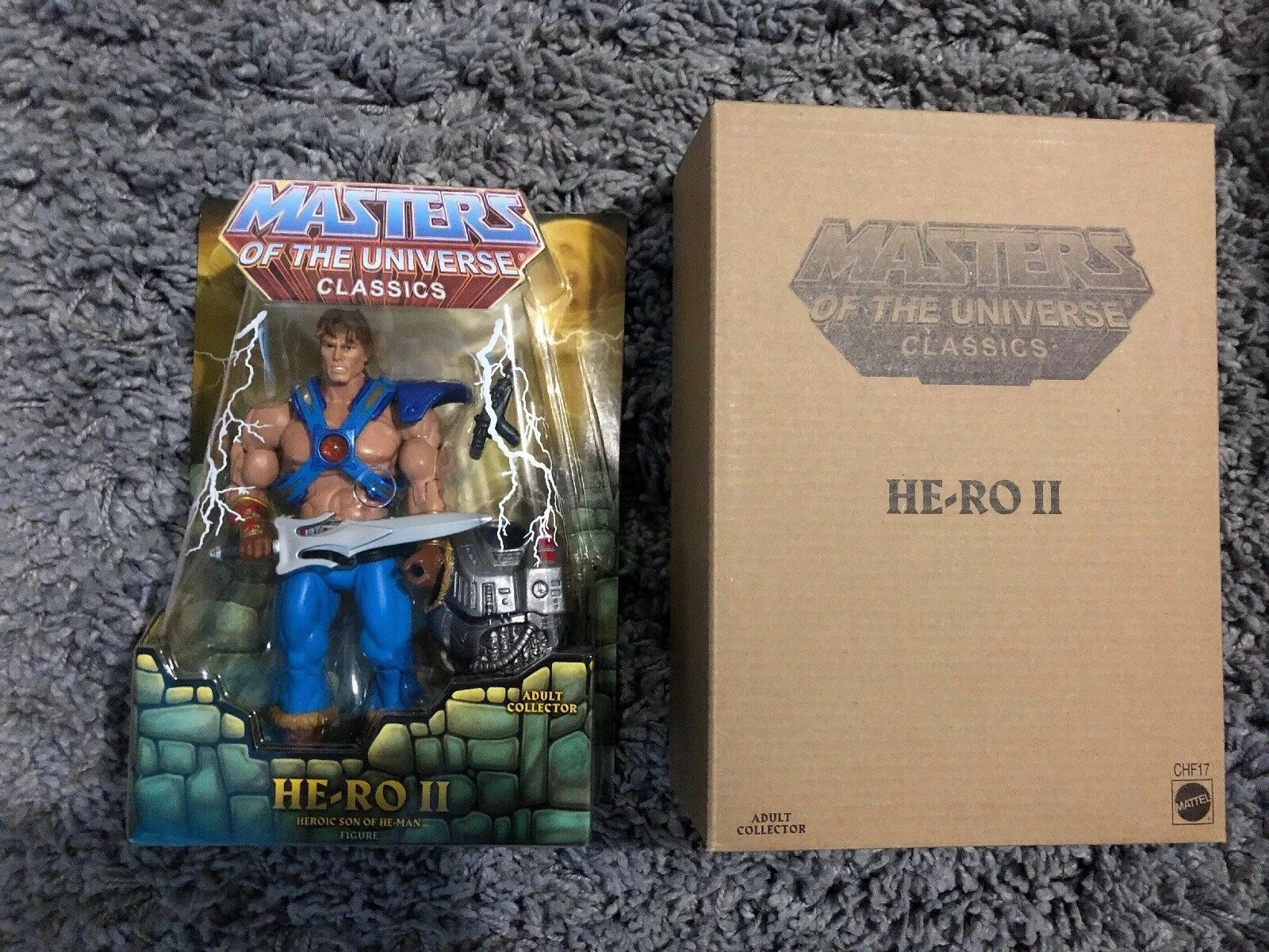 Mattel MoTuC Masters Of The Universe Classics HE-RO II He-man Skeletor