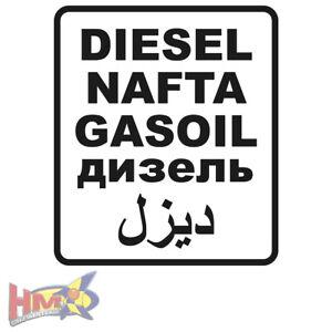 Hm Diesel Nafta Gasoil Arabisch Tank Benzin Sticker