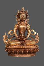 Amitayus Buddha Figur Bronze Statue mit Ambrosia - ewiges Leben China Tibet