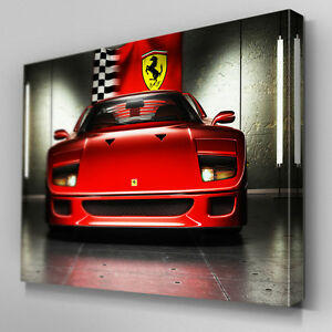 Details about Cars150 Ferrari Concept F40 Flag Canvas Art Ready to Hang  Picture Print