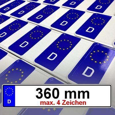 2 x EU AutoschilderKfz KennzeichenNummernschilderDIN Zertifiziert 460mm