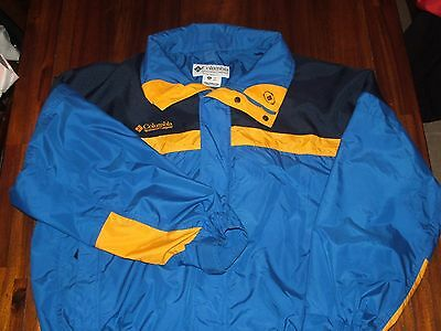 VINTAGE MEN'S COLUMBIA WINTER JACKET COAT BUGABOO BLUE YELLOW SIZE XL EC!