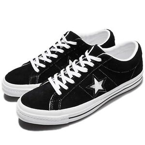 c79d0ebaf7b6 Converse One Star Ox Black White Suede Men Skateboarding Sneakers ...