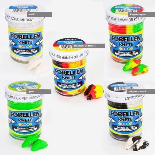 5x50g Troutlook Trout Bait Amino Glitter Forellenknete 5er Bundle F 5,22€//100g
