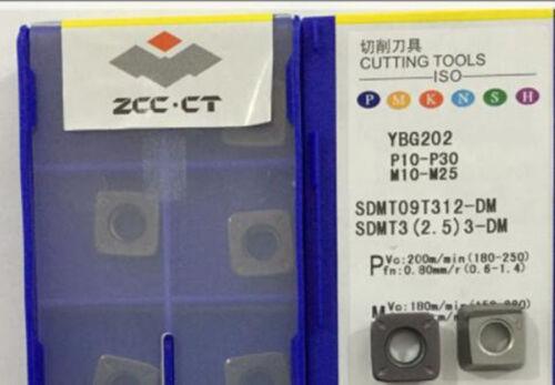 2.5 3-DM YBG202 Insert 10pcs ZCC.CT SDMT09T312-DM YBG202 SDMT3