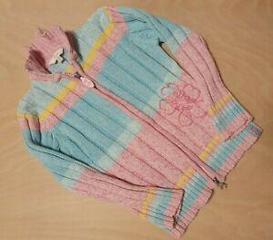 Girls-Cardigan-Pink-Green-TCM-110cm-5-Years-Flower-100-Cotton
