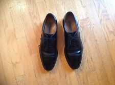 """EUC"" JOHNSTON & MURPHY 11 1/2 Black Oxford Tie Shoe B12A K9 Dress Padded Foot"