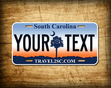 Personalized South Carolina License Plate vanity tag aluminum 6x12 CUSTOM TEXT