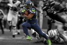 NFL Seattle Seahawks Superbowl XLVIII Marshawn Lynch High Gloss Photo Poster