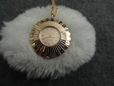 Vintage Swiss Made Caravelle Wind Up Necklace Pendant Watch - Not Working