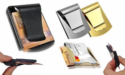 Edelstahl Geldklammer Kartenetui Etui Geld Klammer Cash Clip Karten Etui Alu