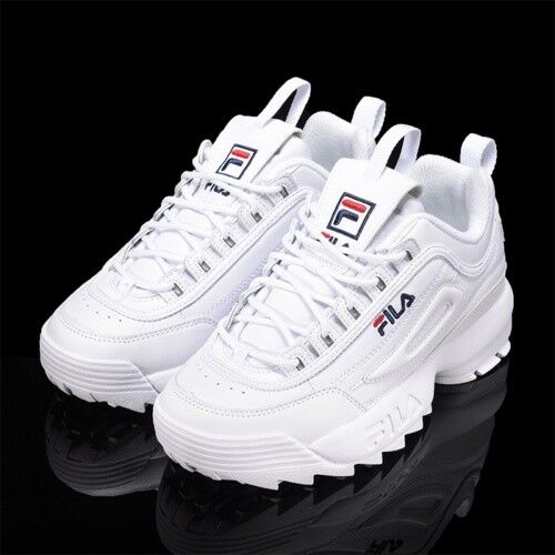 New FILA Donna Disruptor II 2 FS1HTZ3071X WWT Top WHITE UNISEX SIZE Shoes