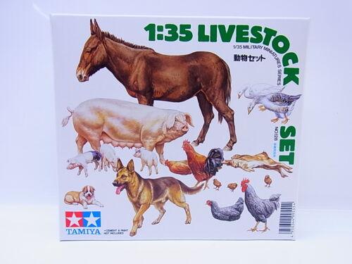 59113Tamiya 35128 Livestock Set Haustiere Hoftiere Tiere 1:35 Bausatz NEU OVP