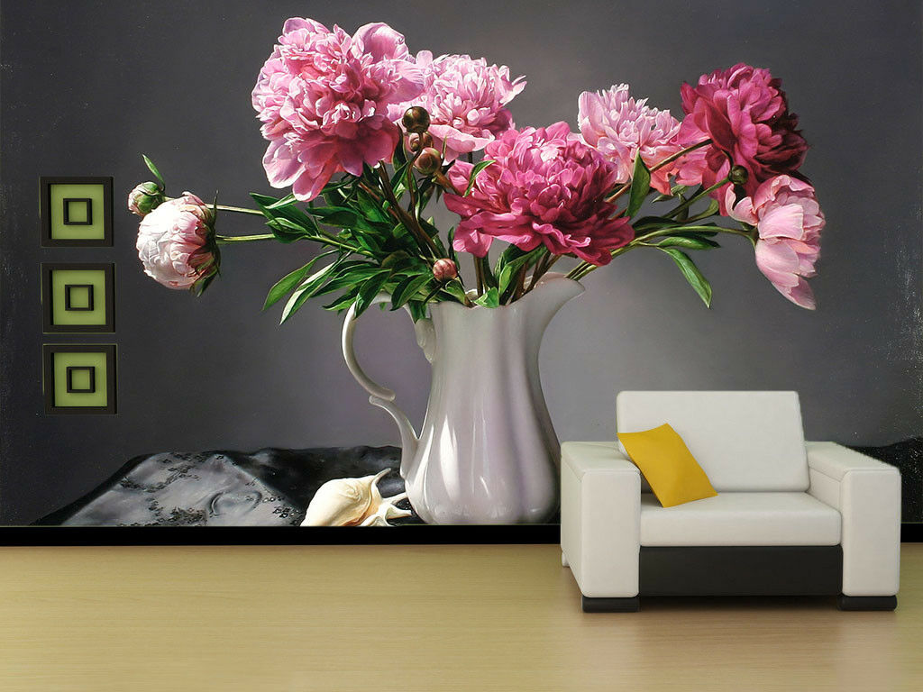3D Carnation 451 Wallpaper Murals Wall Print Wallpaper Mural AJ WALL UK Jenny