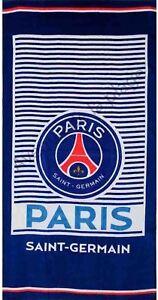 5c20d44437feb1 Serviette de plage PSG bleu et blanc, drap de bain Paris Saint ...