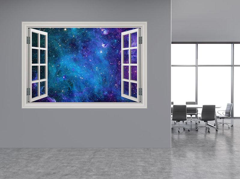 Stelle Galassia Astratto Spazio Foto Finestra Adesivo da Parete Murale