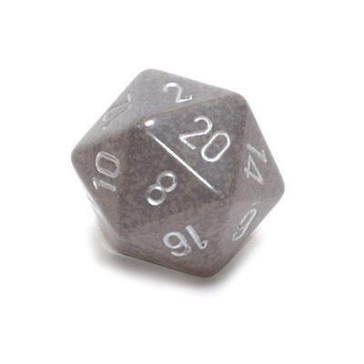 Chessex 34mm Single Jumbo Speckled Stealth D20 1 Die 20 Sides CHX XS2091
