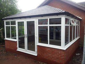 3m X 3m Solid Tiled Replacement Edwardian Conservatory Roof Supplied Fitted Ebay