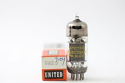 RC53 UNITED ELECTRON BRAND TUBE NOS // NIB 6829 TUBE 3 MICA GREY PLATE