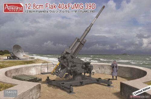 Amusing Hobby 1//35 35A020 German 12.8cm Flak 40 /& FuMG 39D