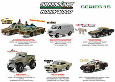 HOLLYWOOD SERIES / RELEASE 15, SET OF 6 CARS 1/64 DIECAST BY GREENLIGHT 44750
