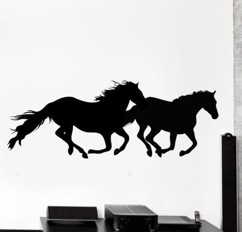 Wall Vinyl Decal Horses Nature Animals Freedom Home Interior Decor z4073