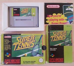 SNES-SUPER-NINTENDO-BOXED-CIB-SUPER-TENNIS-SNSP-ST-FAH