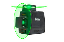 3d 2x360 Plane Amp Line Auto Level Rotary Cross Bright Green Laser Tripro 8 Lines