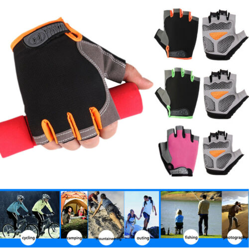 Riding Hand Gloves Half Finger Mittens Non slip Palm Cycling Bicycle Gloves