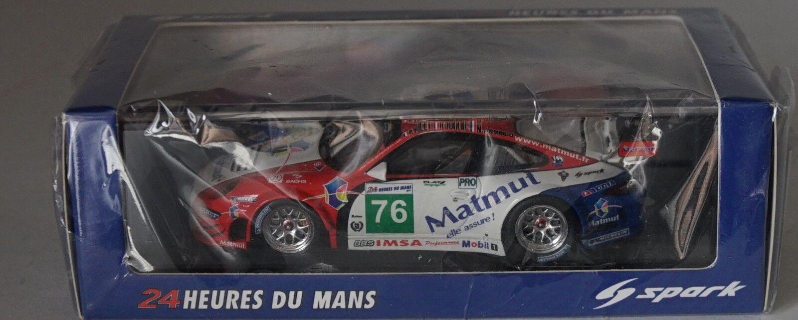 Spark S3417 Porsche 997 GT3 Rsr No. 76 Lemans 2011 in 1:43 Still Sigillato