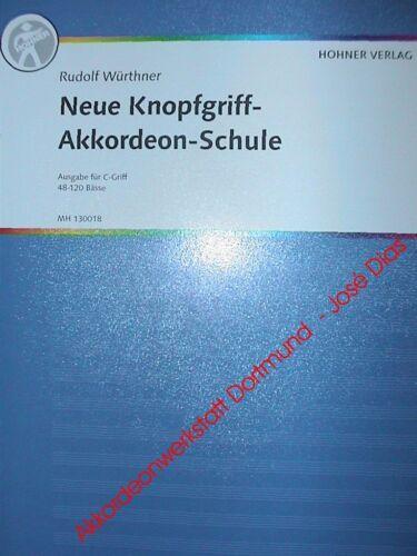C Griff Neue Knopfgriff Akkordeon Schule,Hohner Verlag Button Accordion School