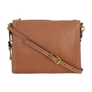 Fossil Emma Ew Brown Leather Crossbody Bag 2b6842