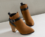 Details about  /Plus Size 4-14 Block Heels Booties Womens Ankle Boots Shoes British Buckle Zip