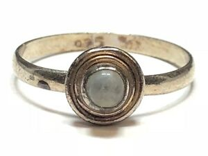 Patina! Take A Look! Size 7.25 Vintage Ladies Sterling Silver Ring