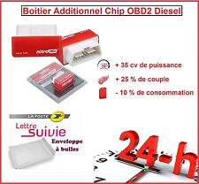 BOITIER ADDITIONNEL CHIP PUCE OBD2 DIESEL VOLKSWAGEN POLO 1.4 1L4 TDI 75 CV