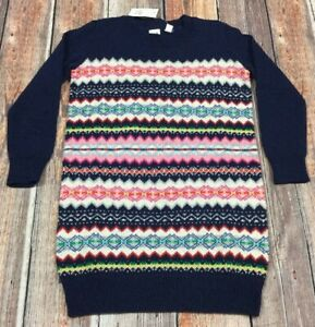 48e0556633e Gap Girls 2XL (13-14) Fair Isle Sweater Dress. Colorful Sweater ...