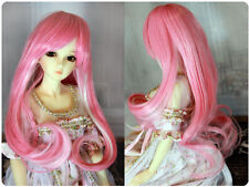 "1/6 1/4 bjd 6-7"" pink with white color doll wig Iplehouse minifee W-171S"