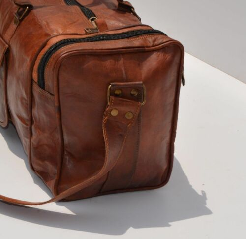 Men/'s Large Retro Vintage Leather Handmade Vintage Duffel Luggage Gym Travel Bag