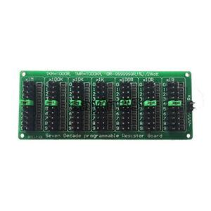 9.9M Seven Decade Programmable Resistor Board Step 1R 1/% 1//2W AD050 1R