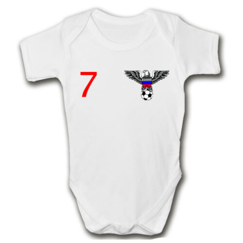 Personalised Russia 2019 Football Baby GrowFootball Baby RomperWorld Cup