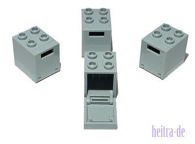 LEGO - 4 x Tresor 2x2x2 hellgrau / Briefkasten Box Container / 4345 4346 NEUWARE
